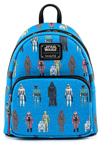 X Star Wars Action Figures AOP Mini Backpack