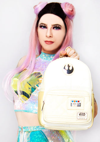 X Star Wars Princess Leia Hoth Cosplay Mini Backpack