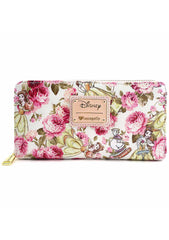 Loungefly x Disney Belle Character Floral Zip Around Wallet