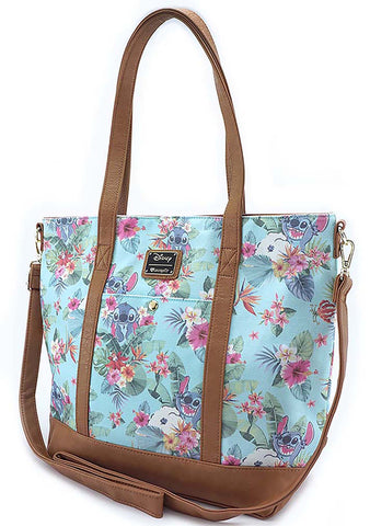 X Disney Stitch Tropical Floral Tote Bag