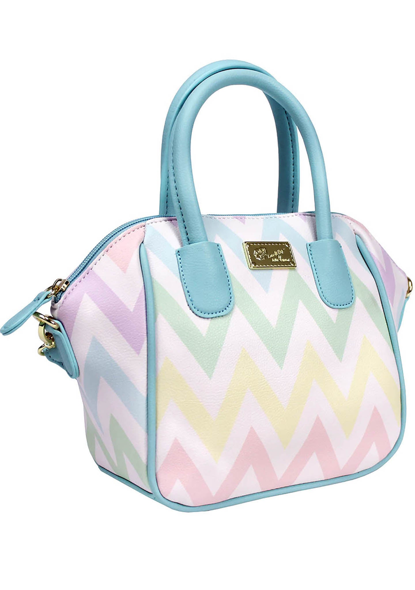 LBQuinn Rainbow Chevron Mini Satchel Bag