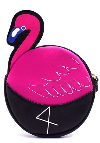 LBCoin Flamingo Wristlet Crossbody Bag
