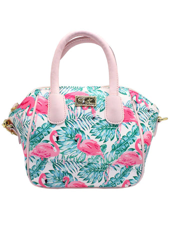 LBQuinn Flamingo Mini Satchel Bag