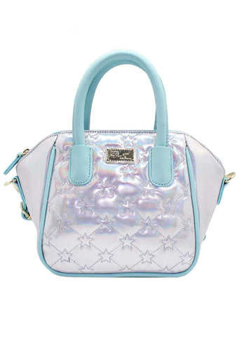 LBQuinn Holographic Star Mini Satchel Bag