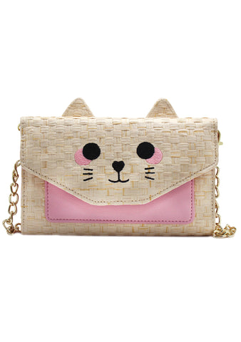 LBSissy Cat Wallet On A String Bag