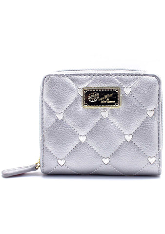 LBZipRnd Quilted Heart Wallet