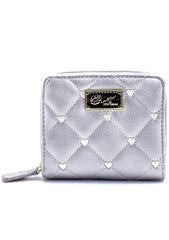 LBZipRnd Qulited Heart Wallet