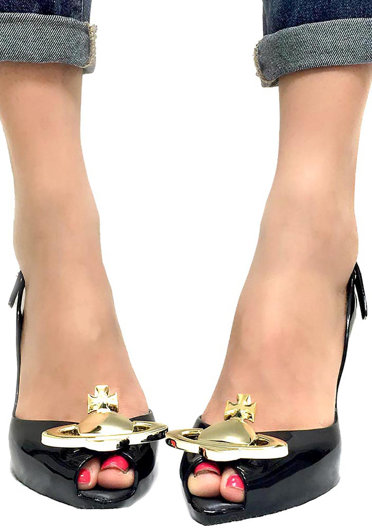Vivienne Westwood Anglomania X Melissa Lady Dragon XII Heels in Black