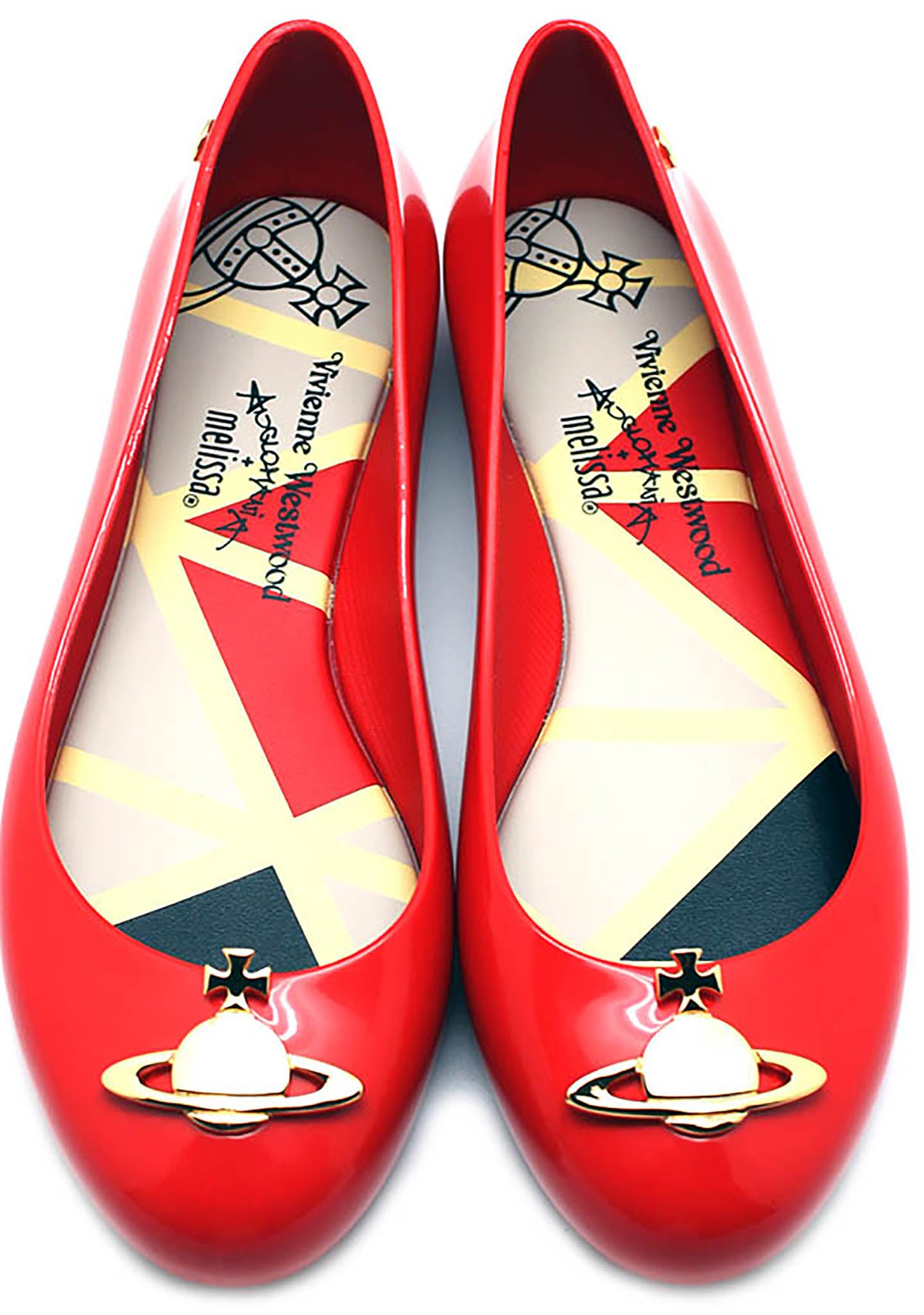 Vivienne Westwood Anglomania X Melissa Space Love II Flats in Red