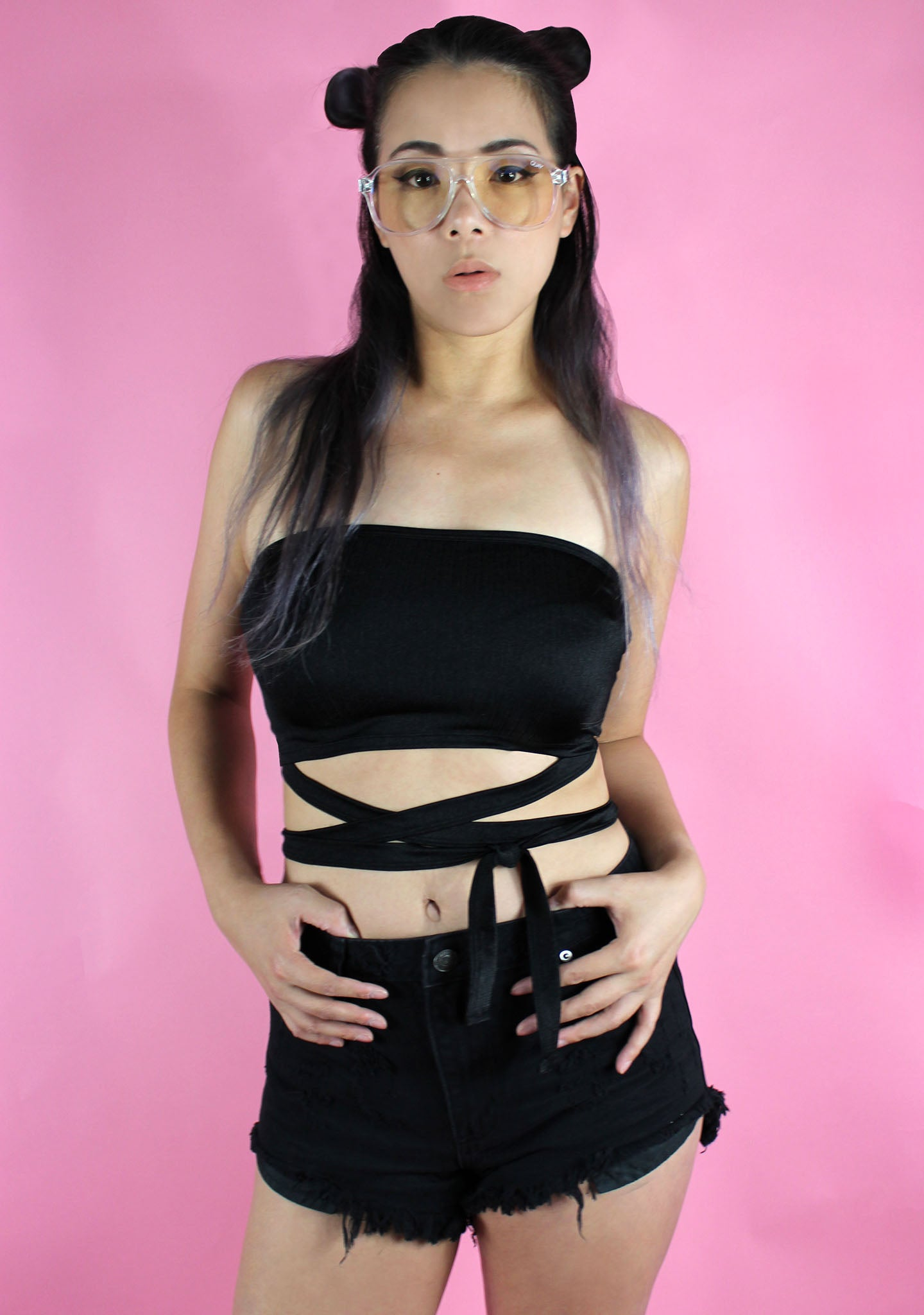 Motel Rocks Dorian Criss Cross Tube Top