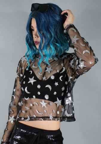 Motel Rocks Ether Star Child Crop Top