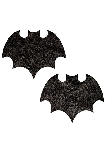 Vamp Bat Nipple Pasties in Liquid Black
