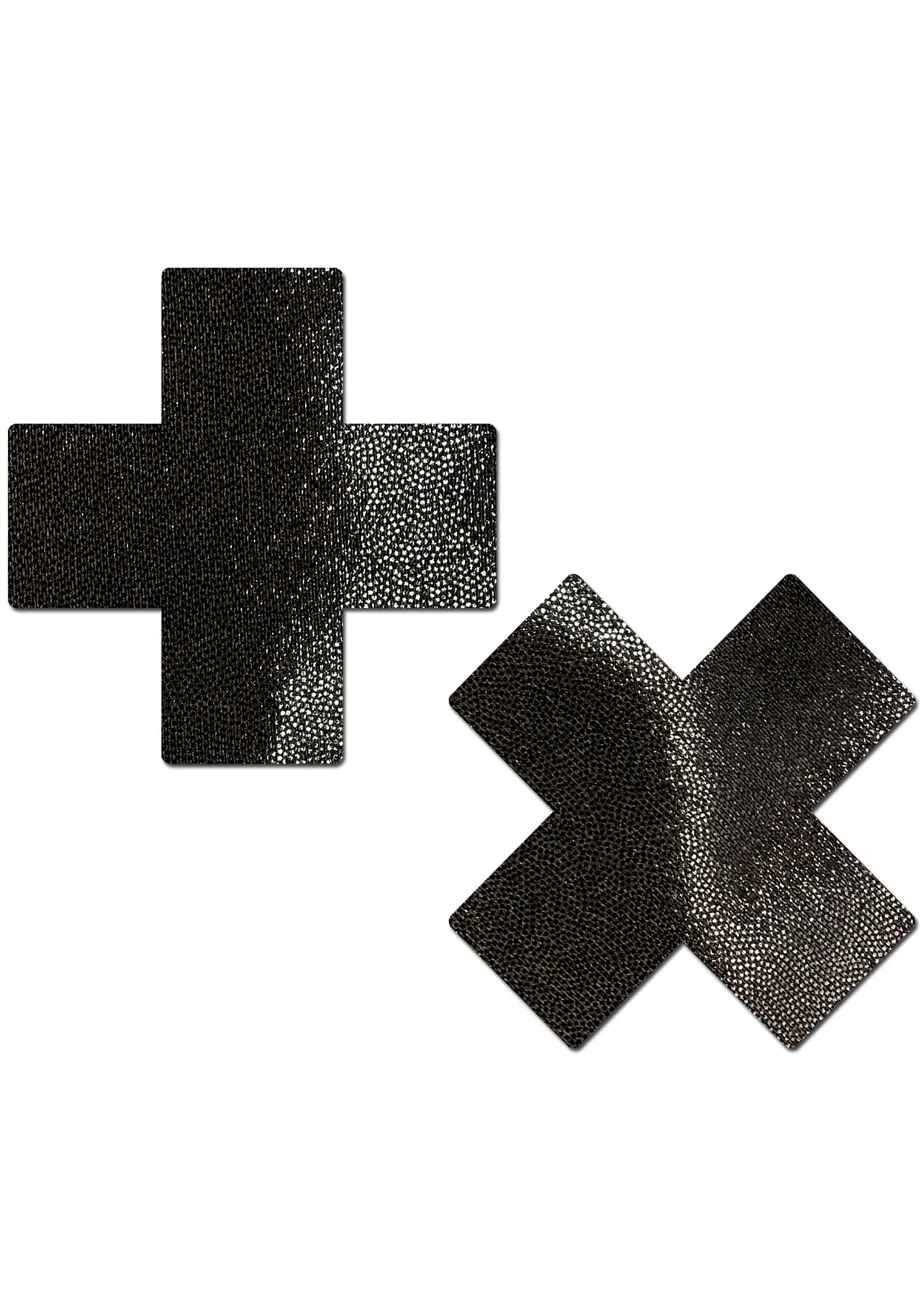 Everyday Cross Reusable Nipple Pasties in Liquid Black