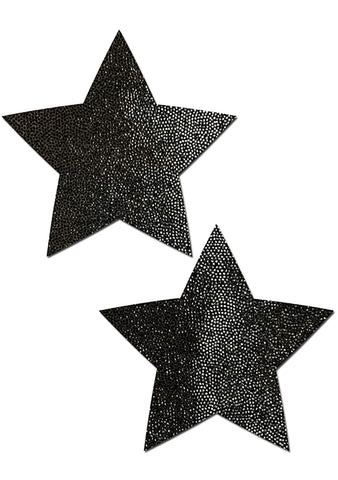 Everyday Star Reusable Nipple Pasties in Liquid Black