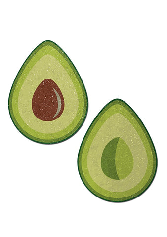 Glitter Avocado Halves Nipple Pasties in Green