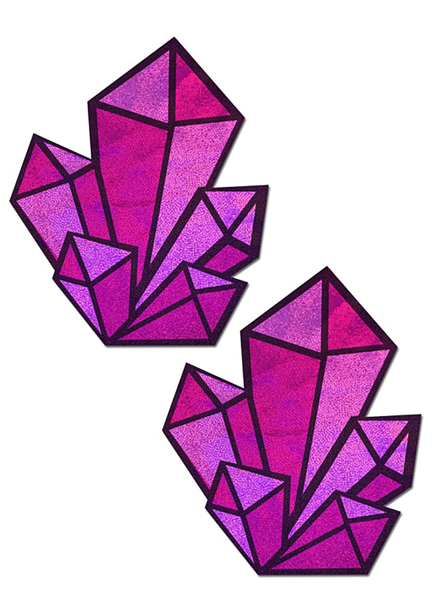 Holographic Crystal Cluster Nipple Pasties in Pink