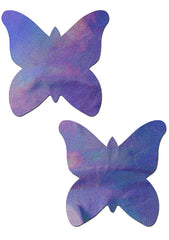 Pastease Monarch Holographic Butterfly Nipple Pasties in Lavender