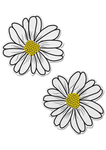 Wildflower Nipple Pasties in White/Yellow