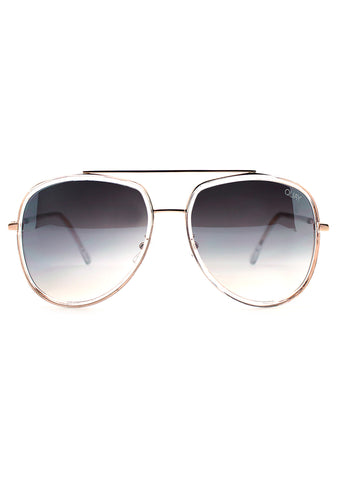 Quay Australia Needing Fame Sunglasses in Clear/Brown