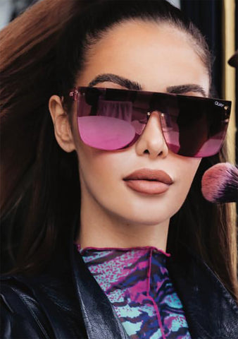 X Nabilla Jaded Sunglasses in Pink Brown