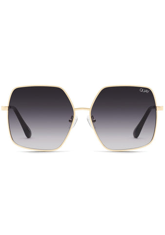 Backstage Sunglasses in Gold Smoke
