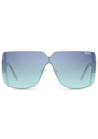 Bank Roll Sunglasses in Gold Teal