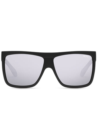 Barnun Sunglasses in Matte Black Silver