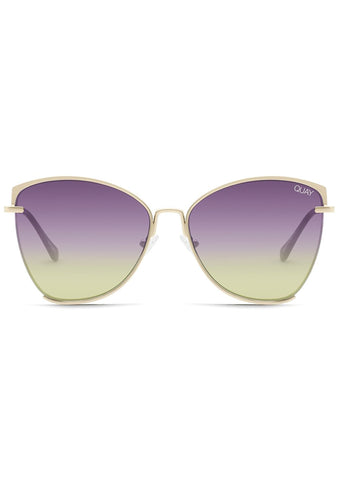 Dusk to Dawn Sunglasses in Gold Purple Pink Yellow