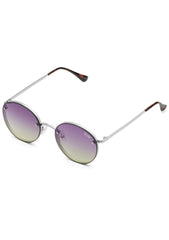 Farrah Sunglasses in Silver Purple Pink Yellow