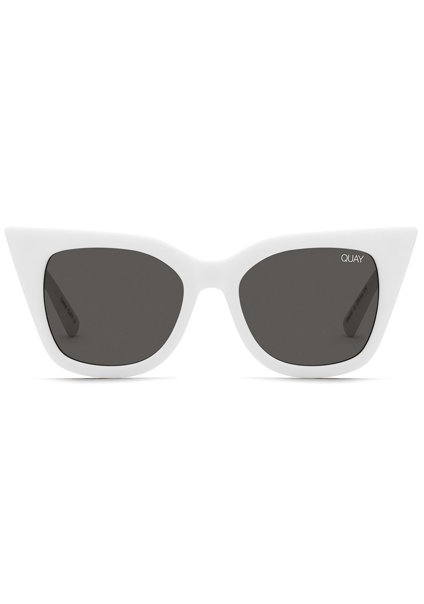Harper Sunglasses in Matte White Smoke