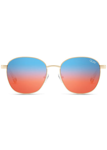 Link Up Sunglasses in Gold Blue Red