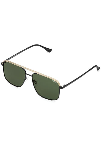 Poster Boy Sunglasses in Matte Gold Black Green