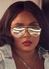 X Lizzo Hold Please Sunglasses in Gold