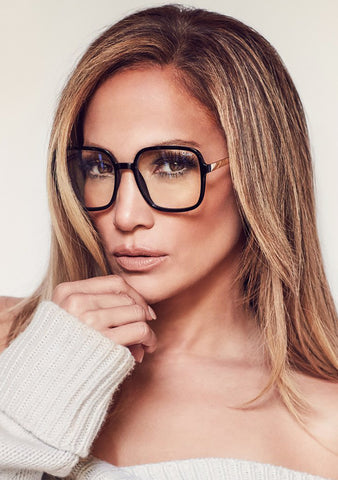 X JLO 9 to 5 Blue Light Glasses in Black
