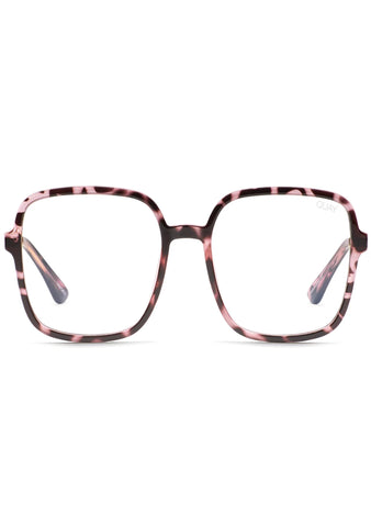 9 to 5 Blue Light Glasses in Pink Tortoise