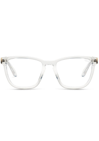 Quay Australia Blue Light Hardwire Glasses in Clear