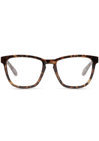 Quay Australia Blue Light Hardwire Glasses in Tortoise/Clear