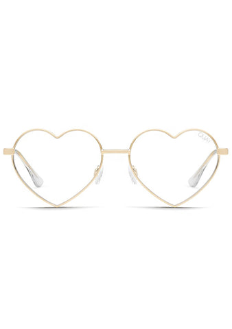 Heartbreaker Blue Lights Glasses in Gold