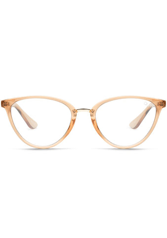 Blue Light Rumours Glasses in Champagne/Clear