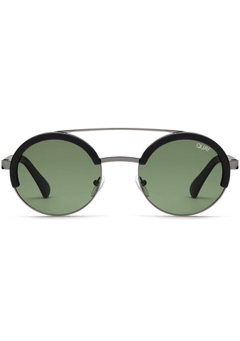 Come Around Sunglasses in Black/Green