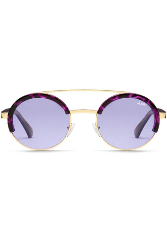 Come Around Sunglasses in Purple Tortoise