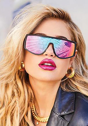 Cosmic Sunglasses in Black Purple Pink