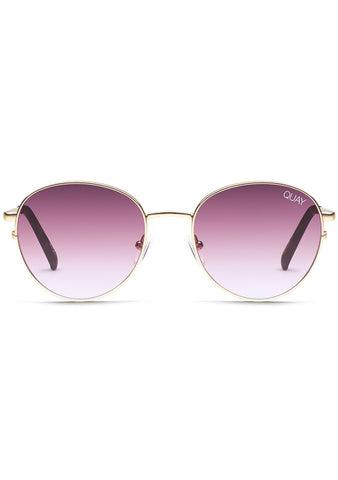 Quay Australia Crazy Love Sunglasses in Gold/Purple