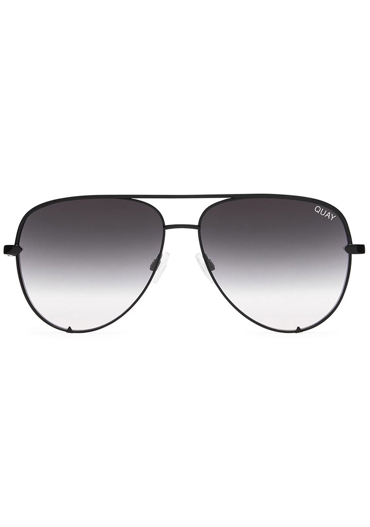 Quay Australia X Desi Perkins High Key Mini Sunglasses in Black Fade