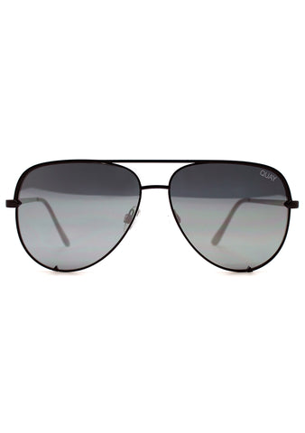 Quay Australia X Desi Perkins High Key Sunglasses in Black/Silver
