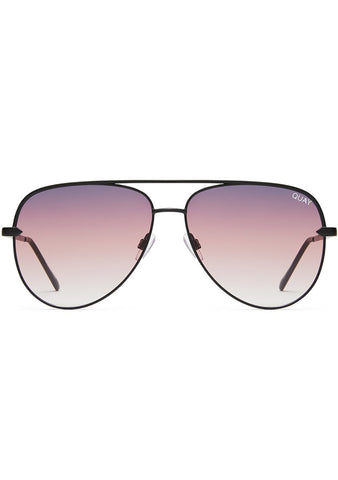 X Desi Perkins Sahara Sunglasses in Black/Purple Fade