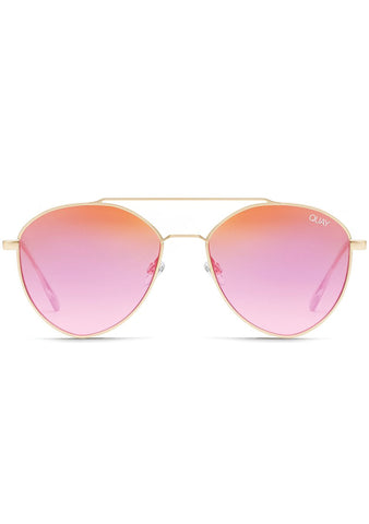 Dragonfly Sunglasses in Gold/Pink