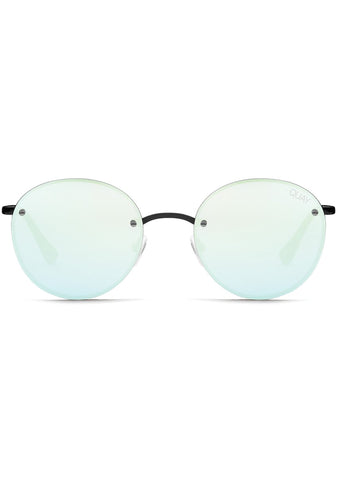 Farrah Sunglasses in Black/Mint