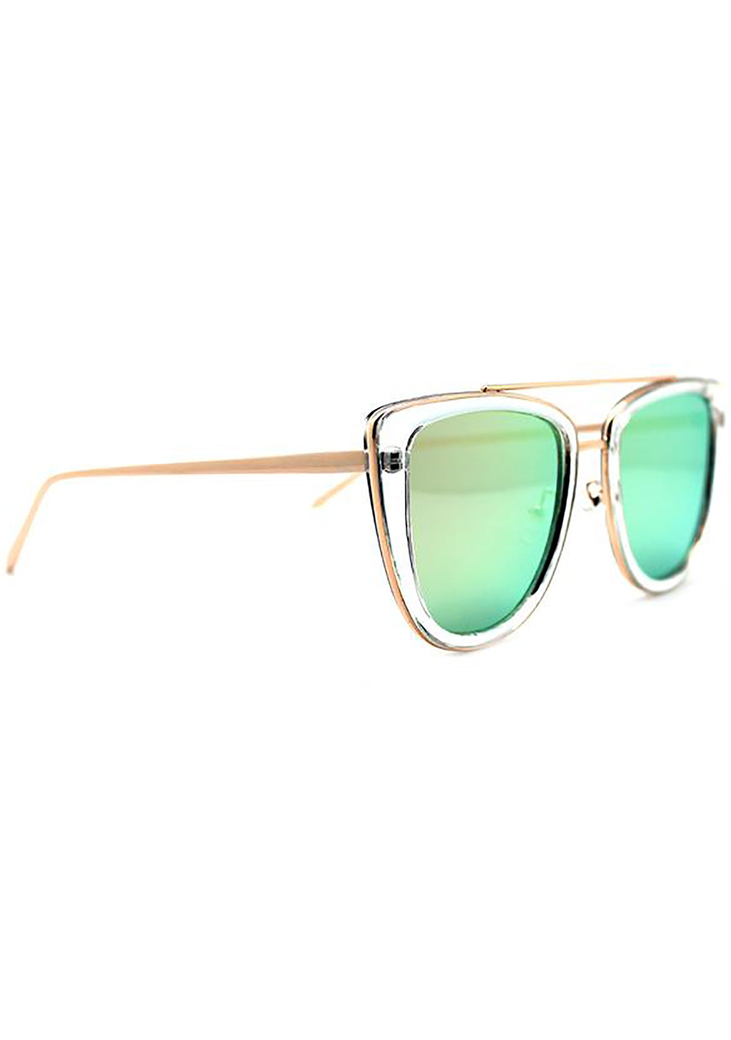 Quay Australia French Kiss Sunglasses in Clear/Rose Gold