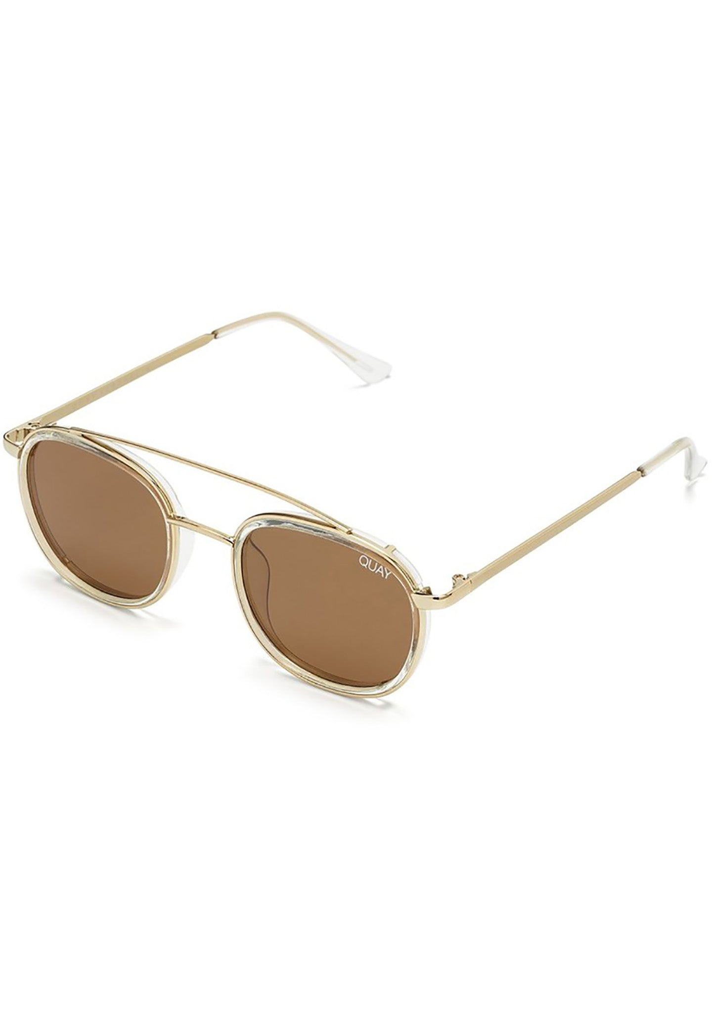 Got It Covered Sunglasses in Clear/Brown